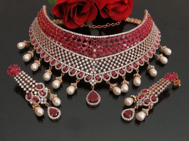 american diamond choker necklace