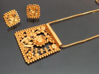 square gold pendant pendant