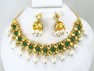 semi precious kundan jewelry